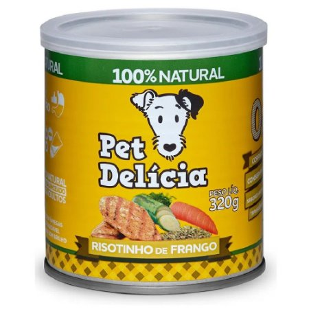 Ração Úmida Para Cães Pet Delicia Risotinho de Frango 320g