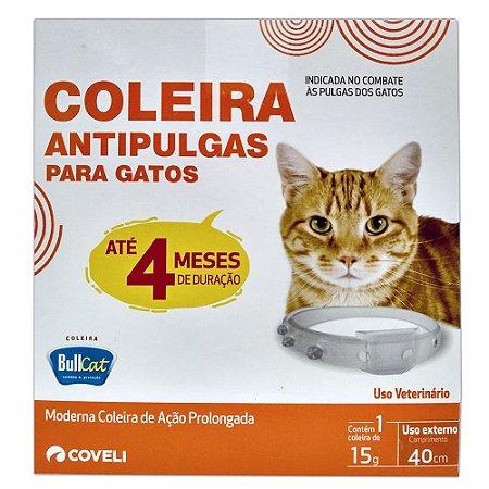 Coleira Antipulgas Para Gatos BullCat 40cm - Coveli