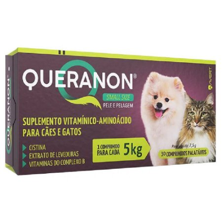 Suplemento Vitamínico Queranon 5kg Small Size 30 Comprimidos - Avert