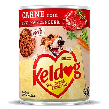Keldog Patê Lata Carne com Ervilha e Cenoura 280g