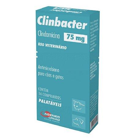 Antimicrobiano Clinbacter 75mg Cães e Gatos 14 Comprimidos - Agener