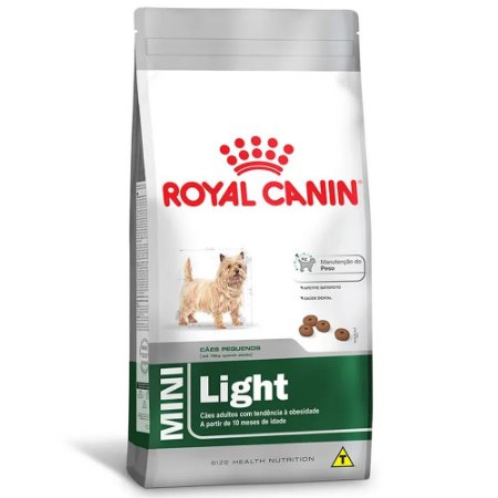 Ração Royal Canin Size Mini Light Cães Adultos Porte Pequeno com Tendências ao Sobrepeso 1kg