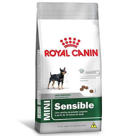 Ração Royal Canin Size Mini Sensible Cães Adultos Com Paladar Exigente de Pequeno Porte 2,5kg