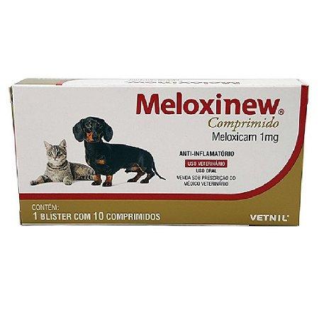 Anti-Inflamatório Meloxinew 1mg Cães e Gatos 10 Comprimidos Vetnil