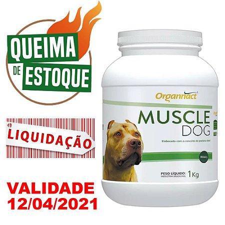 Suplemento Muscle Dog Massa Muscular - 1kg - LIQUIDAÇÃO