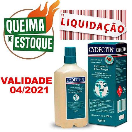 Endectocida Cydectin 500ml Injetável - Zoetis - LIQUIDAÇÃO