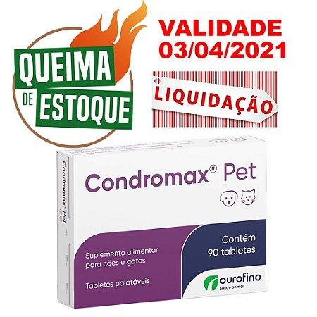 Condromax Pet 90 Comprimidos - Ourofino - LIQUIDAÇÃO