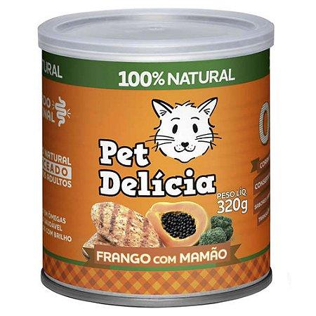 Ração Úmida Para Gatos Pet Delicia Frango com Mamão 320g
