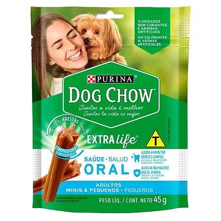 Dog Chow Petisco Saúde Oral Adultos Minis e Pequenos 45g
