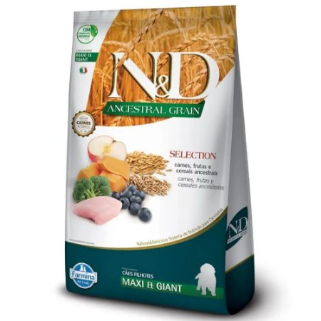 Ração N&D Ancestral Grain Selection Cães Puppy Maxi 15kg
