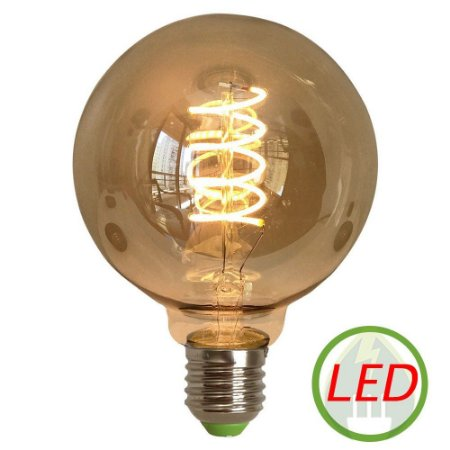 Lâmpada de Filamento LED G95 Spiral 4W Bivolt - GMH