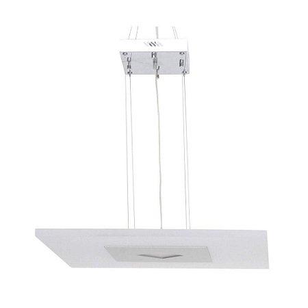Pendente Acrilico 60x60cm LED 25W Branco ZU008L - Bella