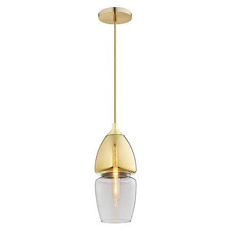 Pendente Bella Iluminação Sei Kb006 40W Dourado/Transparente
