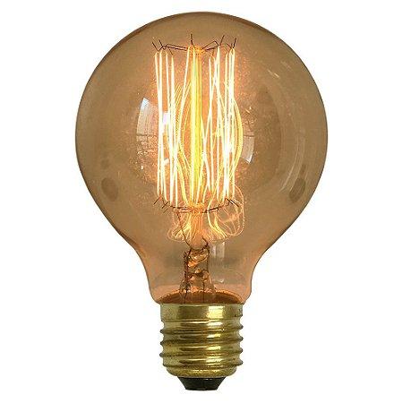 Lâmpada Retrô Decorativa Vintage Thomas Edison G80