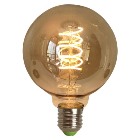 Lâmpada G95 4W Spiral Retrô Decorativa Vintage LED