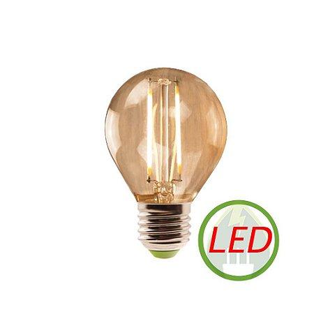 Lâmpada G45 retro Decorativa Vintage LED 2W Bivolt - GMH