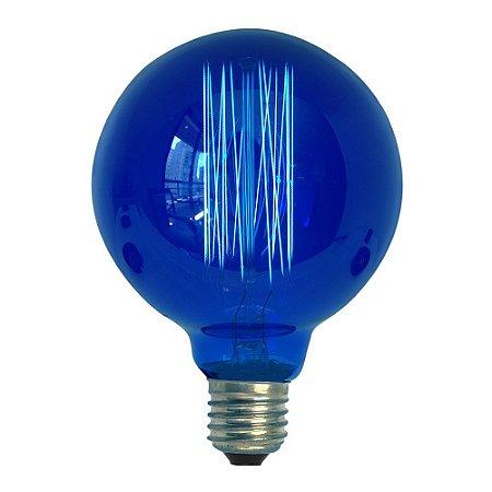 Lâmpada Retro Vintage Thomas Edison G95 Azul 127v