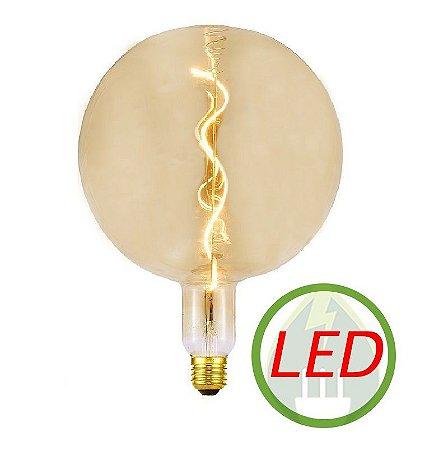 Lâmpada De Filamento LED G200 Spiral 4W Âmbar - GMH