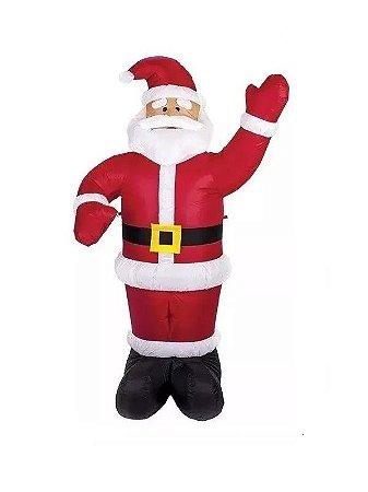 Enfeite de Natal Boneco Papai Noel Inflável 1,80M