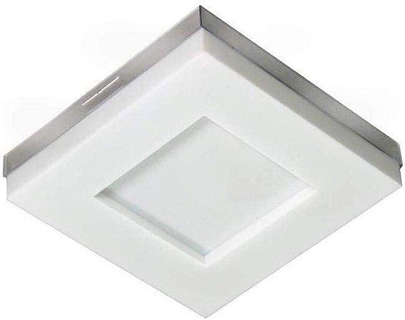 Luminária LED 16W sobrepor Branco Asturias 6500k Tualux