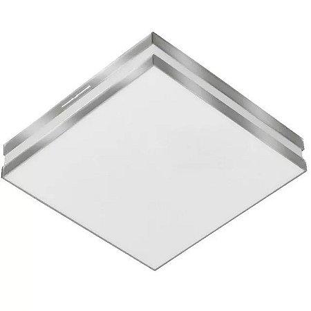 Luminária LED 16W 6500k Espelho Sobrepor Bilbao 26x26 Tualux