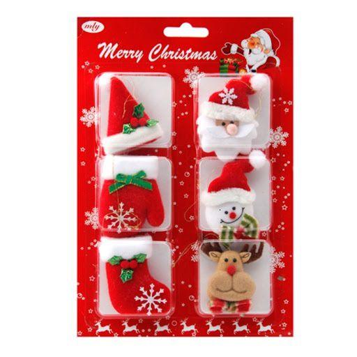 Enfeites Sortidos 6 Unidades Natal