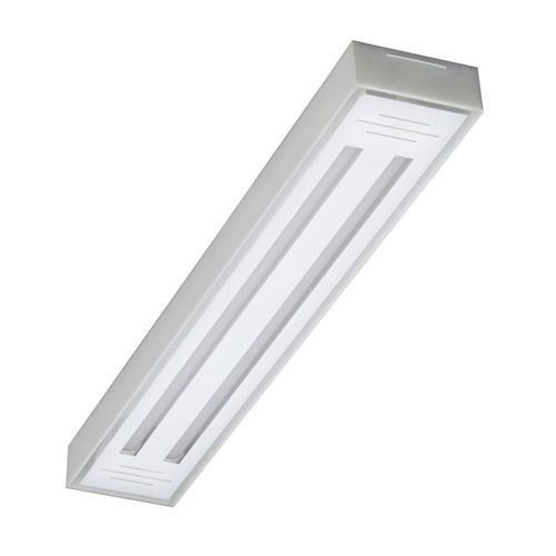 Luminária LED tube 2x60 sobrepor transpar. Val. 6500k Tualux