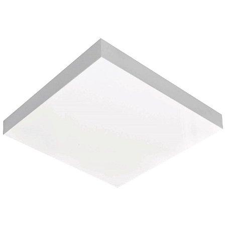 Luminária Quadrada Para 2 Lâmp 26x26 Valencia Branco Tualux