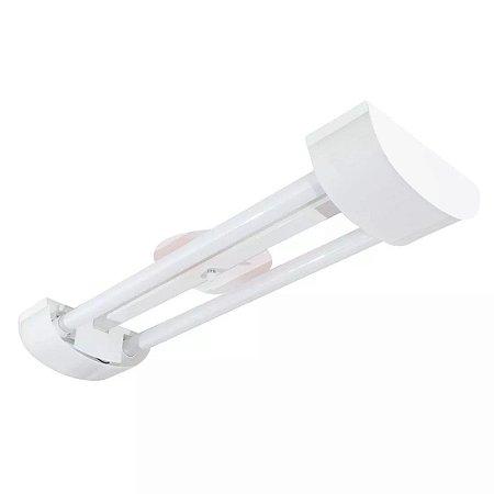 Luminária LED Tube 2x60cm Sobrepor Branco Barcelona - Tualux