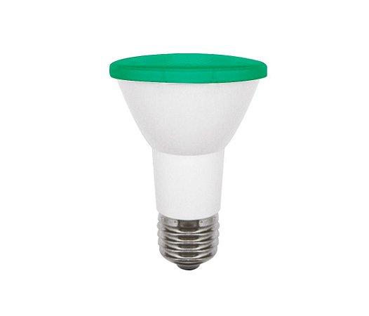 Lâmpada Opus Par20 Led 6w Bivolt Verde E27 - Lp 32030