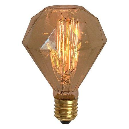Lâmpada Retrô Thomas Edison 220V - Diamante
