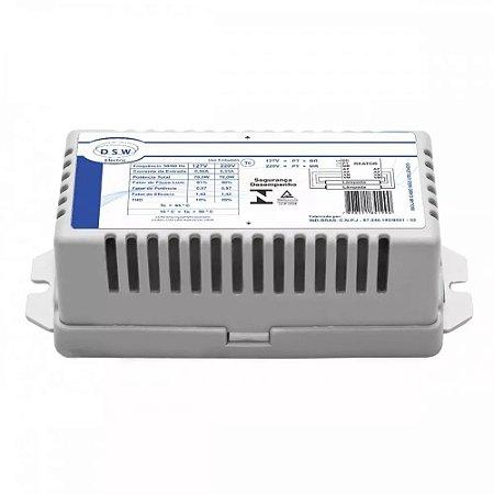 Reator Eletrônico p/ 1 lâmpada Fluor. 36W - T8/40W