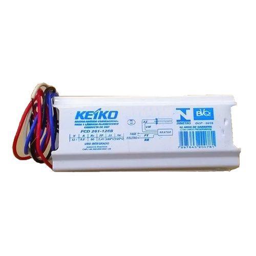 Reator Eletrônico p/ 2 lâmpadas Fluor. 40W - T8 Keiko