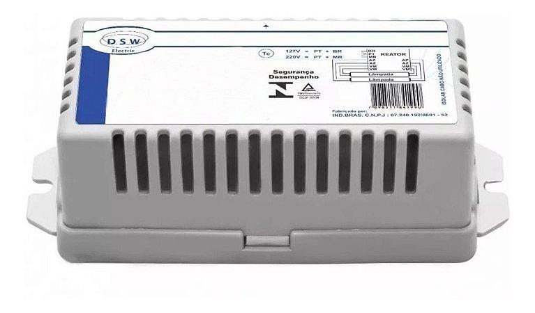 Reator Eletrônico p/ 1 Lâmpada Fluor. 18/20W