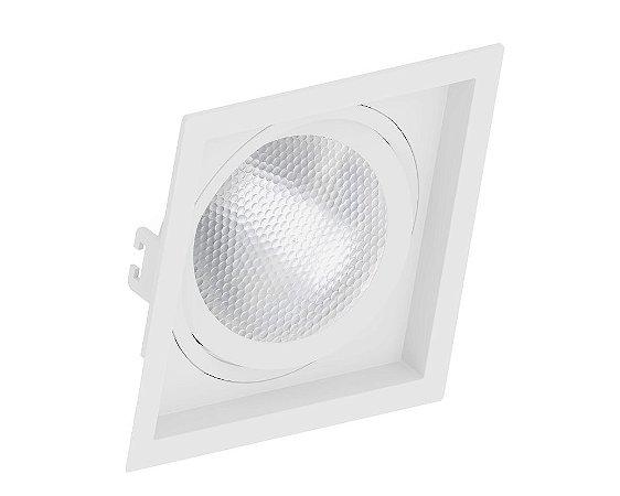 Spot Embutir PAR30 Quadrado Recuado Branco - SAVE ENERGY
