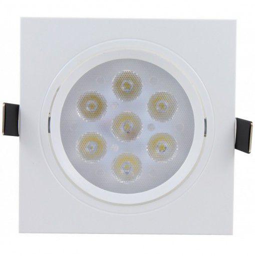 Spot LED 7w Quadrado Embutir 6500k - MAXTEL