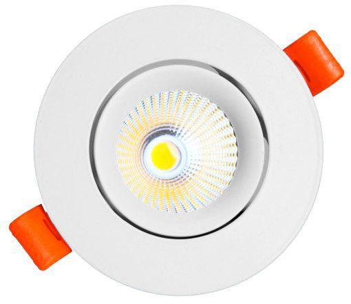 Spot LED COB 3w Redondo Embutir 6000k - MAXTEL