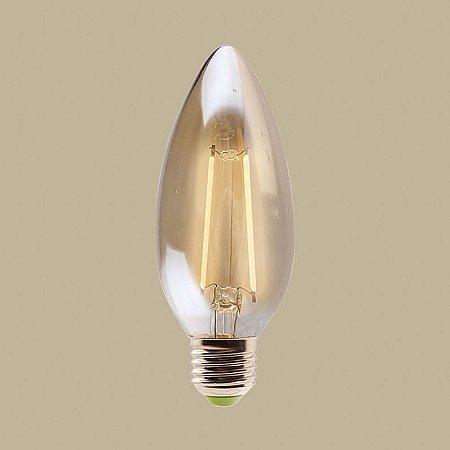 Lâmpada de filamento LED vela 2w E27 bivolt - GMH