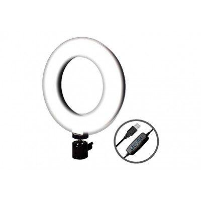 Luminaria de LED RING LIGHT 3 Funções 20cm 5W USB - MBtech