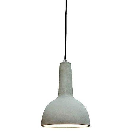 Pendente Cemento Cinza E27 9,5xx27cm Bella Iluminação Id001