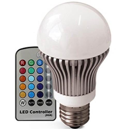 Lâmpada LED Bulbo 3w RGB Com Controle