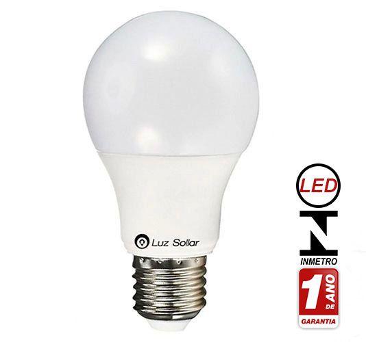 Lampada Bulbo LED 4,8W 6500K Bivolt - LUZ SOLLAR