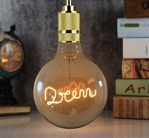 Lâmpada De Filamento Led G125 Dream 3w Bivolt
