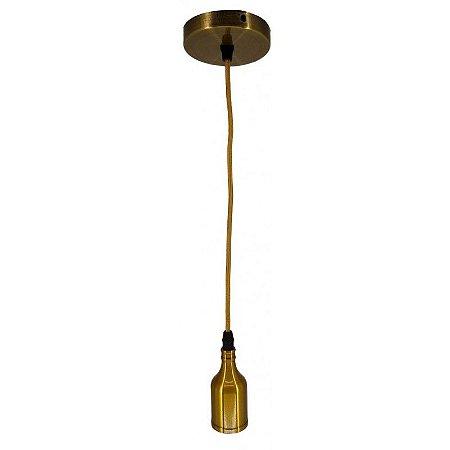 Pendente Simples A8 E27 Liso Dourado