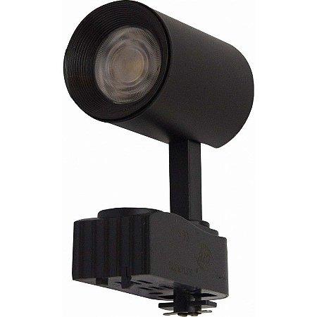 Spot para Trilho Super LED 7W 3000k Preto - CTB