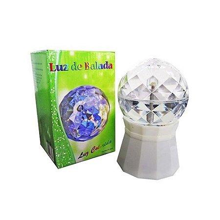 Globo Giratório Balada LED Colorido