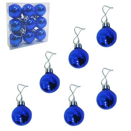 Bola de Natal Azul  N.3 9pcs