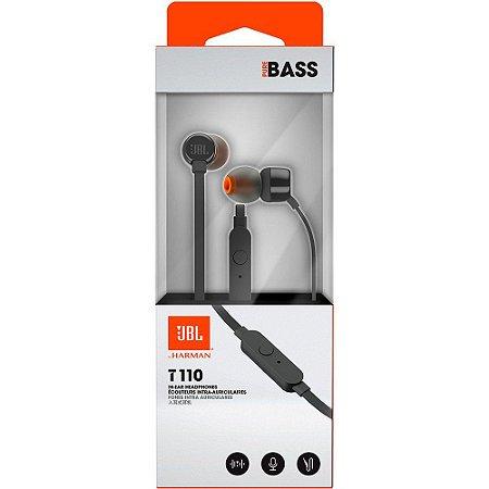 Fone De Ouvido In Ear - JBL T110 - Preto