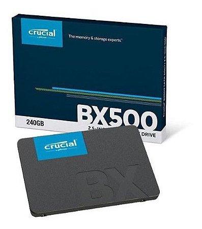 "HD SSD Crucial 240GB SATA3 2,5"" - BX500"