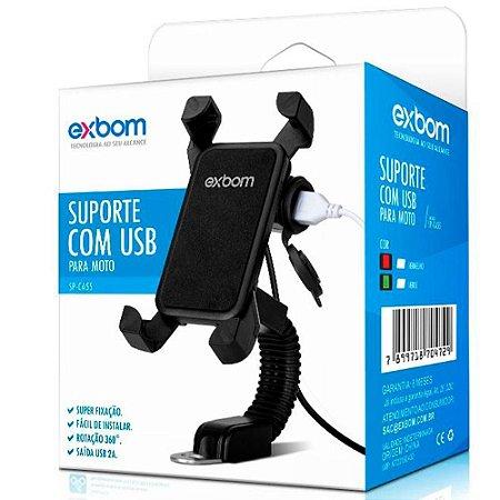 Suporte Para Celular Com Conexão USB Para Carregar - SP-CA55 - Exbom